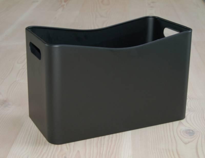 Aduro koš obdélník černá ocel - DOPRAVA ZDARMA