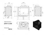 KRATKI Eryk 12 kW rovné sklo Erik 12 litinová krbová vložka PODSTAVEC+DOPRAVA ZDARMA