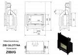 KRATKI ocelová krbová vložka ZIBI 12 kW G výsuvné otevírání DOPRAVA ZDARMA