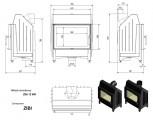 KRATKI ocelová krbová vložka ZIBI 12 kW rovné prosklení DOPRAVA ZDARMA