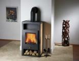Haas+Sohn Adria II s teplovodním výměníkem černá, béžová dlažba, zlaté kování