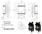 Moderní vysoká krbová vložka KRATKI Blanka 8 kW BS pravé+levé prosklení bez sloupku PODSTAVEC + DOPRAVA ZDARMA