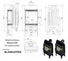 Moderní vysoká krbová vložka KRATKI Blanka 8 kW BS pravé prosklení bez sloupku PODSTAVEC + DOPRAVA ZDARMA