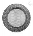 KRATKI ventilační mřížka kulatá ∅150mm černo-stříbrná