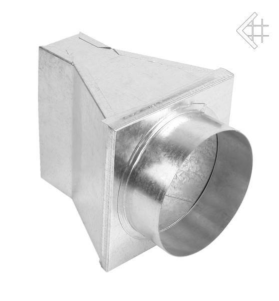 KRATKI přechod 180° kanál 150x50 mm, ∅ 150 mm