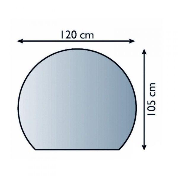 Lienbacher 21.02.883.2 sklo pod kamna, 8 mm