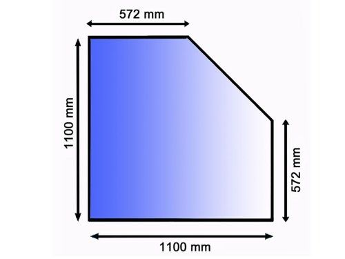 Lienbacher 21.02.982.2 sklo pod kamna, 8 mm