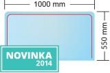 Podkladové sklo pod kamna Sofie 1000x550