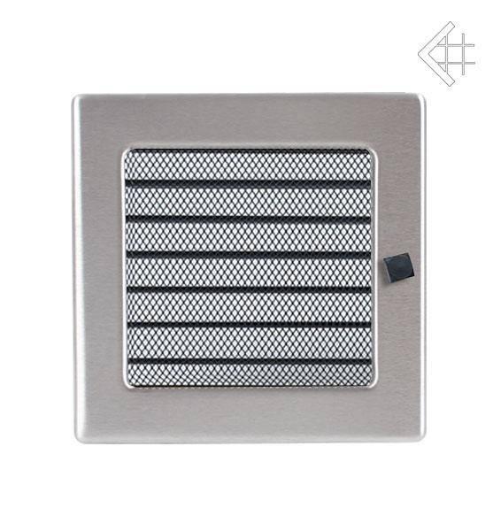 KRATKI ventilační mřížka 17x17 nerezová s žaluzií