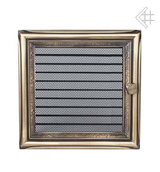 KRATKI ventilační mřížka 22x22 rustikální s žaluzií