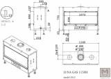 Krbová vložka na plyn LUNA 1150 DH gold GAS průhledová M DESIGN