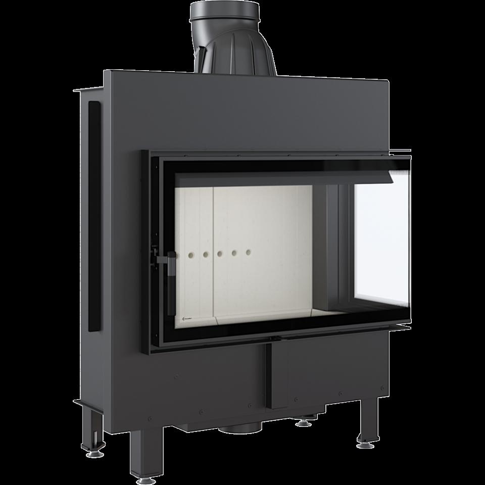 KRATKI LUCY 14 P BS pravé boční sklo teplovzdušná krbová vložka s externím přívodem vzduchu DOPRAVA ZDARMA