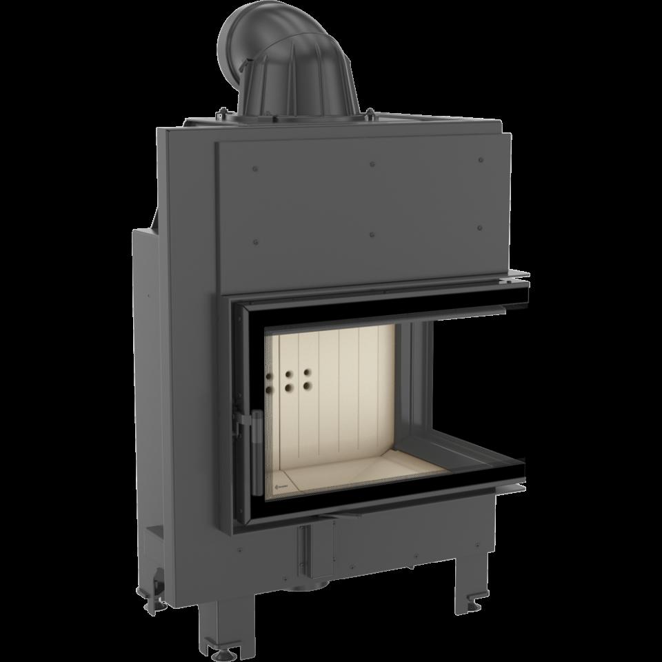 Kratki ocelová krbová vložka MBM 10 L BS SG levé boční prosklení, ohýbané sklo DOPRAVA ZDARMA