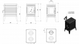 Litinová krbová kamna Kratki Koza K10 150mm DOPRAVA ZDARMA