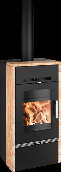 Haas+Sohn FARUM krbová kamna s teplovodním výměníkem, černá/Woodstone Prestige DOPRAVA ZDARMA