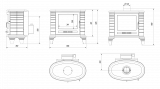 KRATKI Koza K8 černá litinová kamna s ventilátorem TURBOFAN doprava zdarma