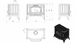 KRATKI Koza K9 černá litinová kamna s ventilátorem TURBOFAN doprava zdarma