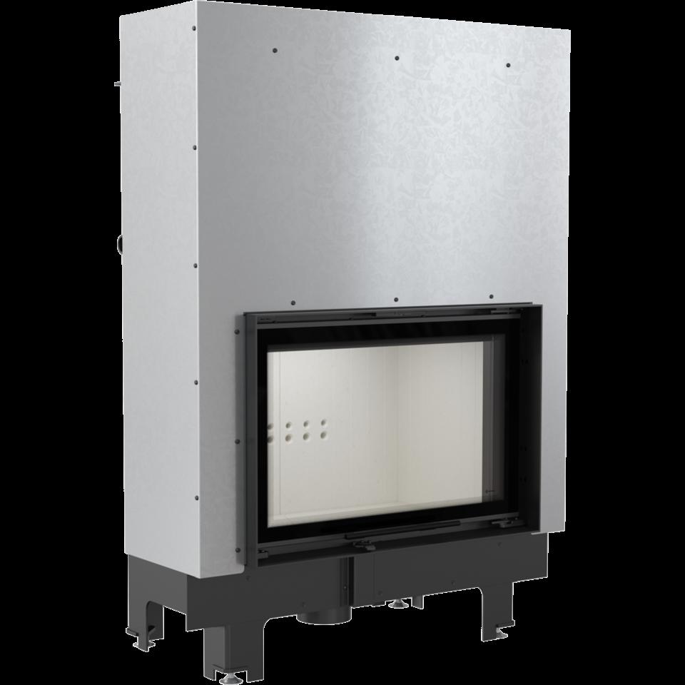 Kratki Krbová vložka MBO teplovodní 15 kW rovné sklo s výsuvem - DOPRAVA ZDARMA