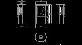 Teplovzdušná krbová kamna Kratki FALCON 9 VIEW panoramatické sklo sklo DOPRAVA ZDARMA