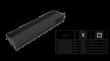 KRATKI mřížka LUFT 6X40 cm černá