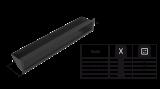 KRATKI mřížka LUFT SF 6X40 cm černá