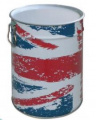 """LIENBACHER - univerzální koš """"Great Britain"""" s víkem 21.02.148.2"""