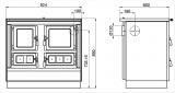 sporák KVS Moravia KLAUDIE VSP VSP 9112.0582 antracit, chromované doplňky, nerezový rám plotny, ocelová broušená plotna DOPRAVA A KOUŘOVODY ZDARMA