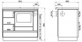 sporák KVS Moravia VSP 9100.1412-OP bílý levý, chromované doplňky, smaltovaný černý rám plotny, ocelová plotna dělená stříkaná DOPRAVA A KOUŘOVODY ZDARMA