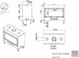 Krbová vložka na plyn LUNA 1000 DH gold GAS průhledová M DESIGN
