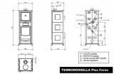 Kamna s výměníkem a ochlazovací smyčkou D.S.A. TermoRossella Plus s troubou DOPRAVA A KOUŘOVODY ZDARMA La Nordica