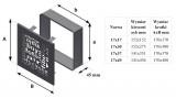 KRATKI ventilační mřížka ABC 17x17 grafitová