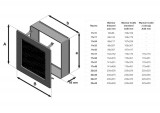KRATKI ventilační mřížka 22x45 černá