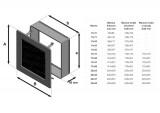 KRATKI ventilační mřížka 22x22 černá s žaluzií