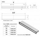 KRATKI mřížka TUNEL 6X80 cm grafit