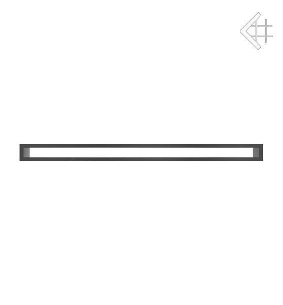 KRATKI mřížka TUNEL 6X100 cm černá