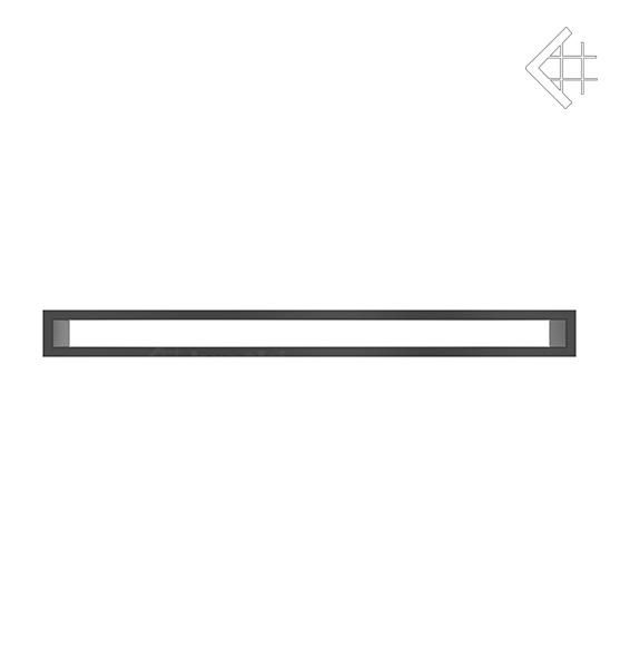 KRATKI mřížka TUNEL 6X80 cm černá