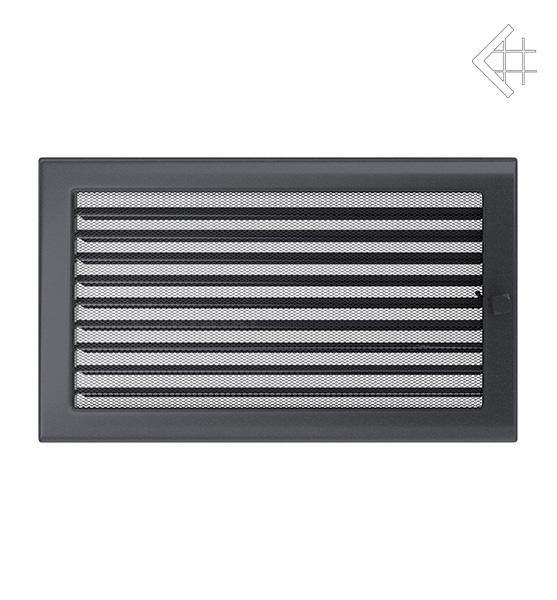 KRATKI ventilační mřížka 22x37 grafit s žaluzií