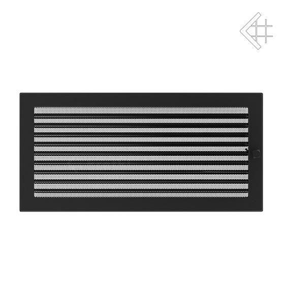 KRATKI ventilační mřížka 22x45 černá s žaluzií