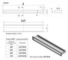 KRATKI mřížka LUFT 6X80 cm grafit