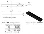 KRATKI mřížka LUFT 9X60 cm grafit