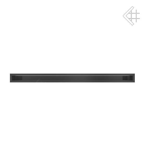 KRATKI mřížka LUFT 6X100 cm černá