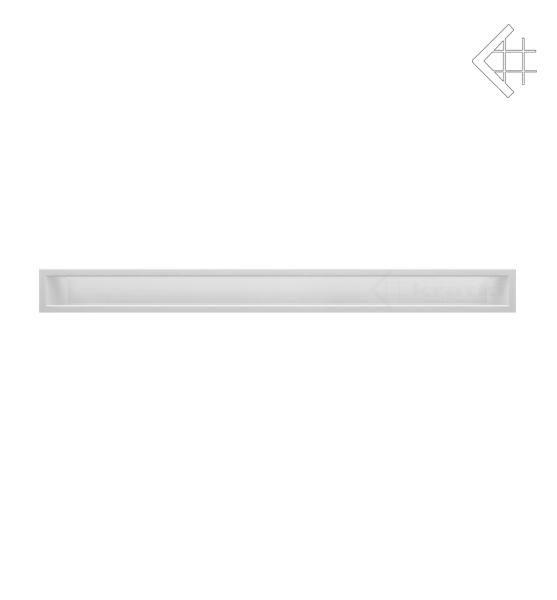 KRATKI mřížka LUFT 9X100 cm bílá