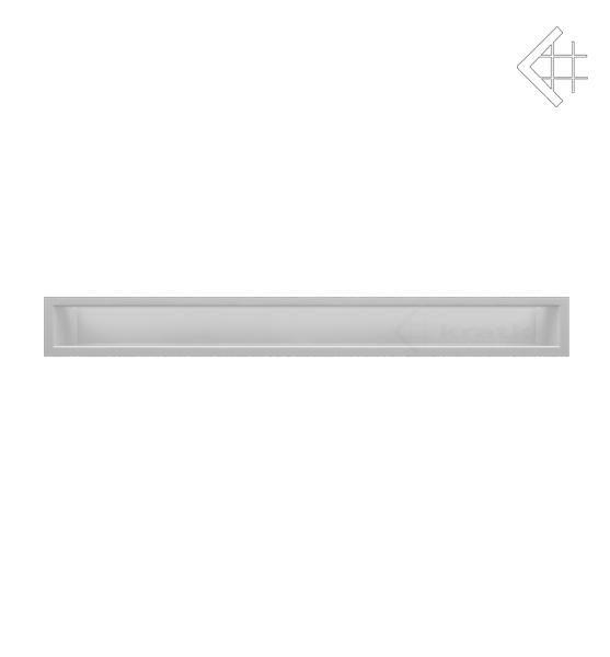 KRATKI mřížka LUFT 9X80 cm bílá