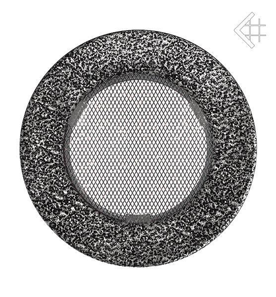 KRATKI ventilační mřížka kulatá ∅100mm černo-stříbrná