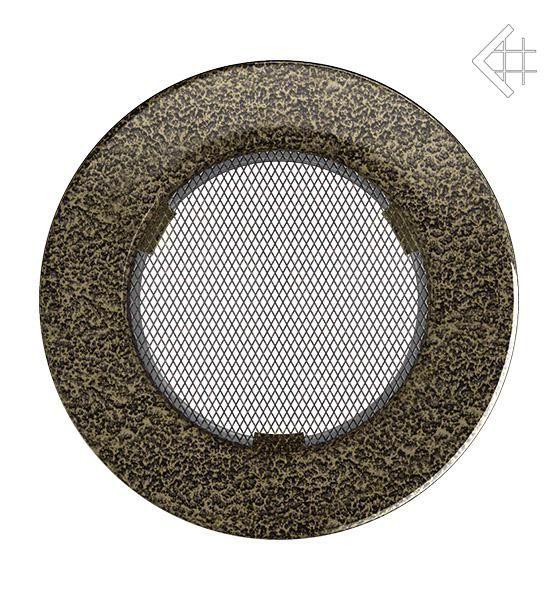 KRATKI ventilační mřížka kulatá ∅100mm černo-zlatá
