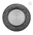 KRATKI ventilační mřížka kulatá ∅125mm černo-stříbrná