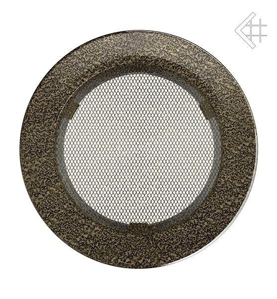 KRATKI ventilační mřížka kulatá ∅150mm černo-zlatá